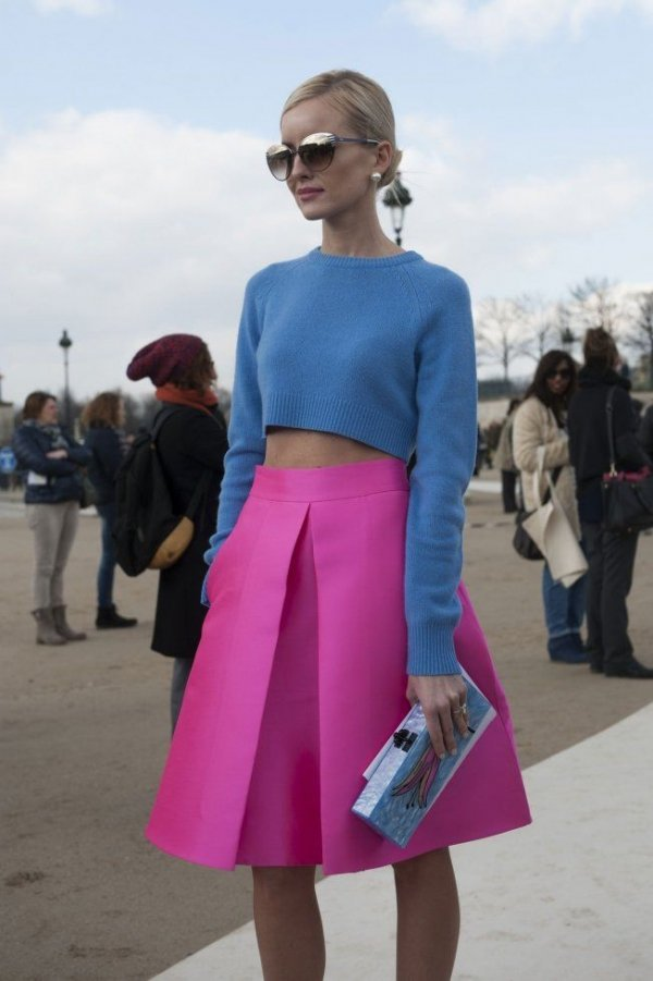 Image result for color blocking street style