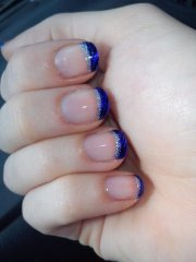 funky blue french tips - 62 fabulous