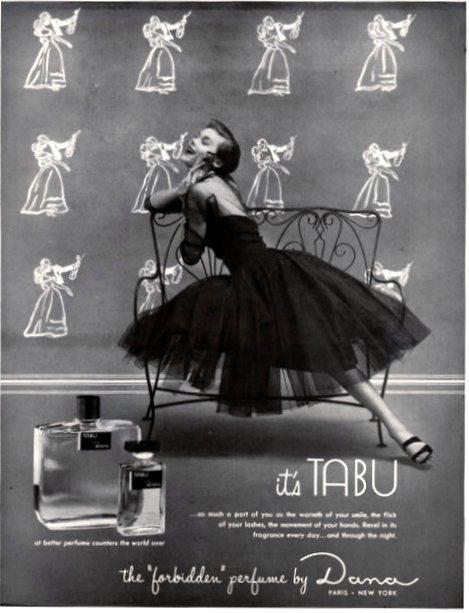 Resultado de imagem para tabu dana vintage ad