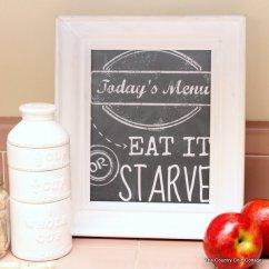 Kitchen Art Prints Hutch Cabinet 9 异想天开的厨房黑板图书免费下载 完美的厨房黑板可打印如果你有家庭的成员 那些只是挑剔难以言表 曾经说过的家庭成员开始抱怨你准备午餐或晚餐 你只是指向您的装裱的厨房艺术和微笑