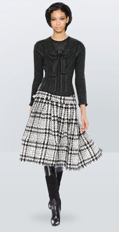 Plaid Skirt - 15 Fab Looks from Oscar De La Renta Pre-Fall ...