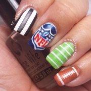 nfl nails - 36 sports nail art