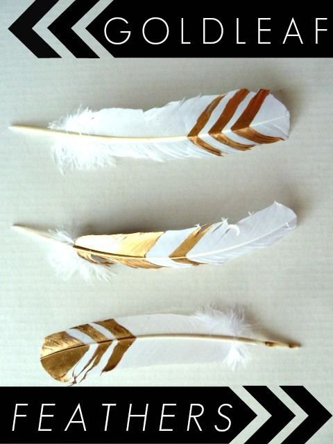 DIY Gold Leaf Feathers So Pretty For Modern Home Decor Gold