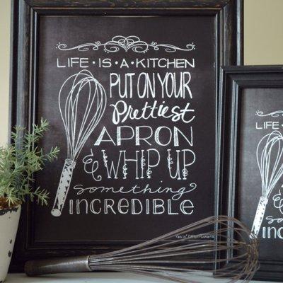 framed prints for kitchens kitchen rolling island 9 异想天开的厨房黑板图书免费下载