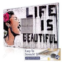 CANVAS +GIFT Life Is Beautiful Banksy Pictures Paintings