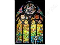 CANVAS +GIFT Stained Glass Window Church Cathedral Banksy