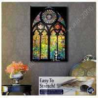 CANVAS +GIFT Stained Glass Window Church Cathedral Banksy ...