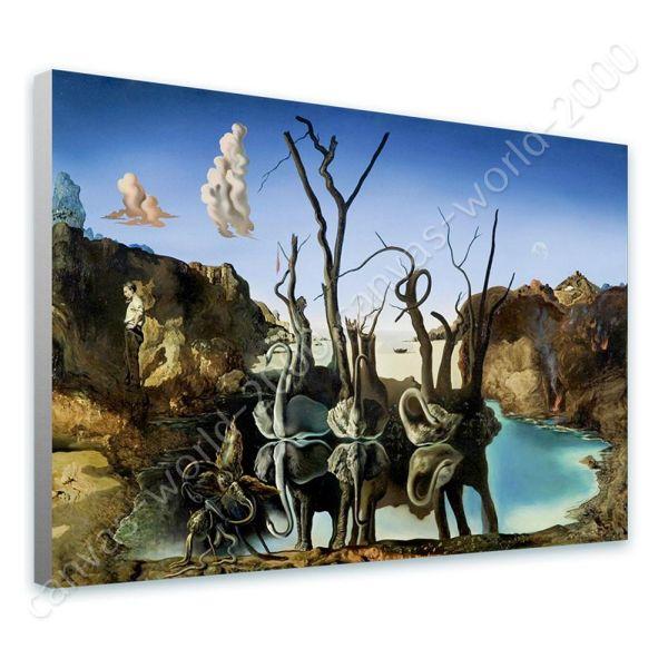 Swans Reflecting Elephants Salvador Dali Canvas
