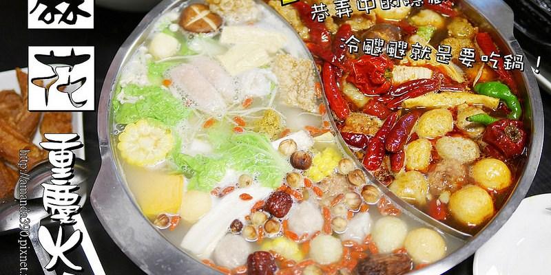 【台南美食】麻花重慶火鍋。隱藏在巷弄間的好滋味。天冷就是要吃鍋呀!麻辣鍋|鴛鴦鍋