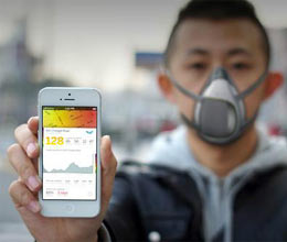 smart mask will give news of pollution