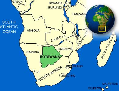 Μποτσουάνα - Τοποθεσία