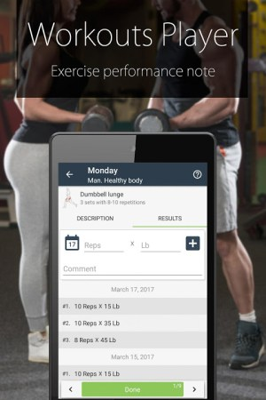 Android Fitness Coach FitProSport Screen 7