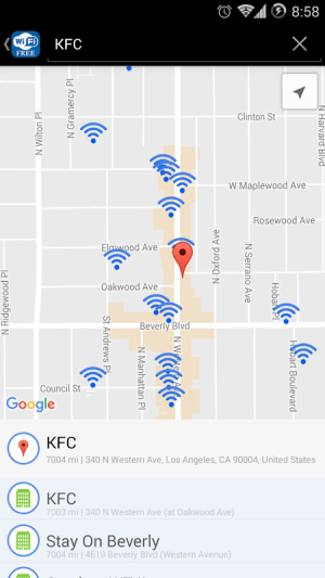 Android WiFi Free - Passwords&Hotspots Screen 5