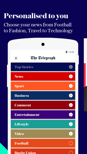 Android The Telegraph - Live News Screen 2