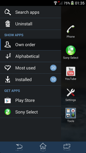 Android XPERIA™ Blue Water Theme Screen 6