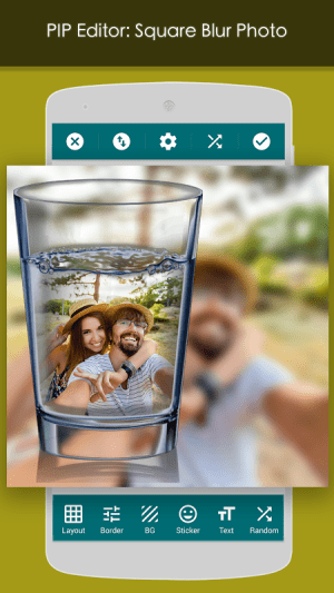 Android PIP Camera: Square Blur Screen 2