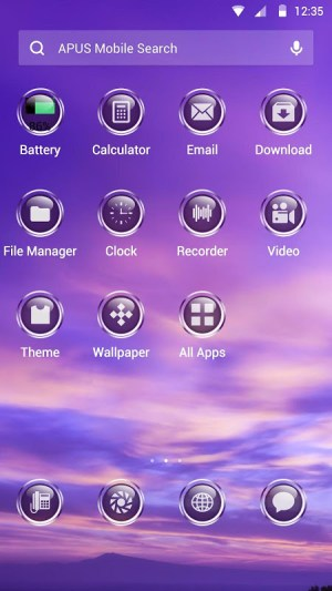Android Purple Sky Theme Screen 1