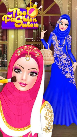 Android Hijab Fashion Doll Dress Up Screen 11