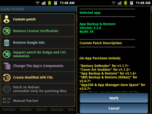 Android Lucky Patcher v5 Screen 1