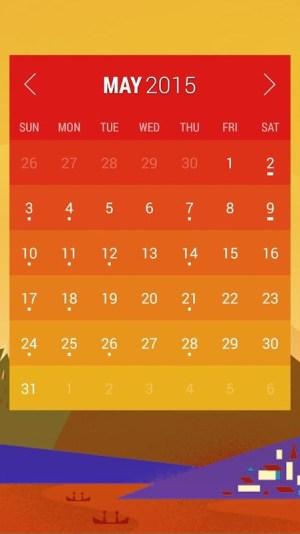Android Calendar Widget: Month Screen 2