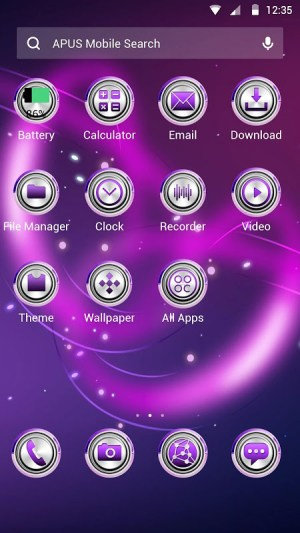 Android Dazzling light Theme Screen 1