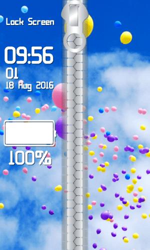 Android Balloon Zipper Lock Screen Screen 3