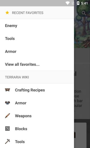 Android Official Terraria Wiki Screen 3
