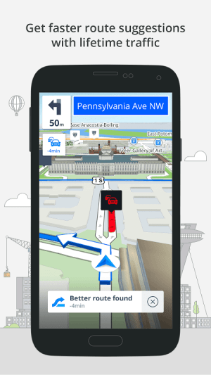 Android GPS Navigation & Maps Sygic Screen 1