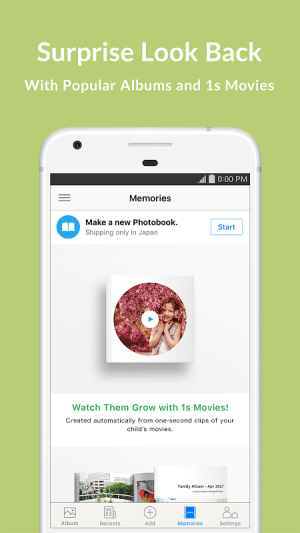 Android Family Album Mitene: Private Photo & Video Sharing Screen 3