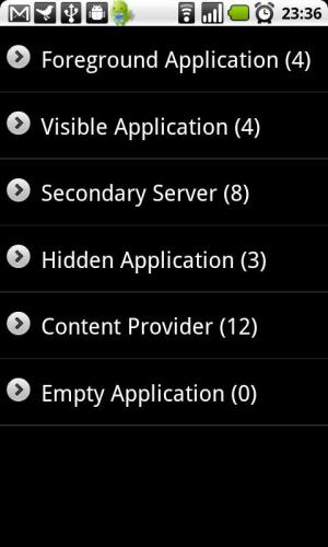 Android Auto Memory Manager Screen 3