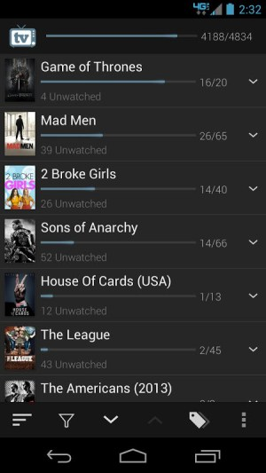 Android TV Show Favs Screen 2