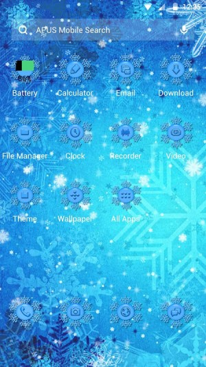 Android Frozen Theme Screen 1