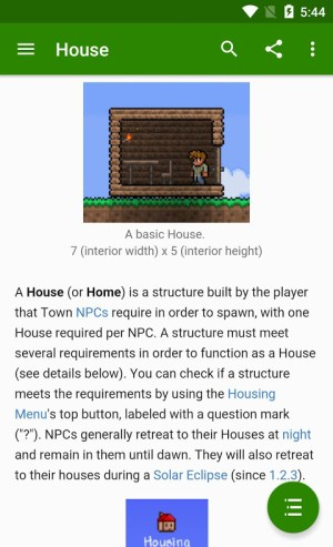 Android Official Terraria Wiki Screen 1