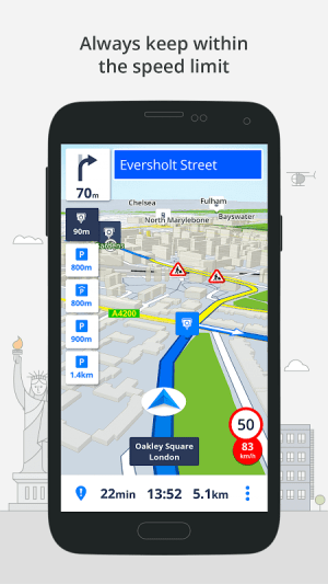 Android GPS Navigation & Maps Sygic Screen 3