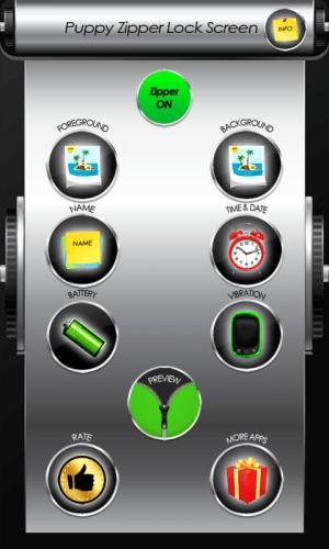 Android Puppy Zipper Lock Screen Screen 1