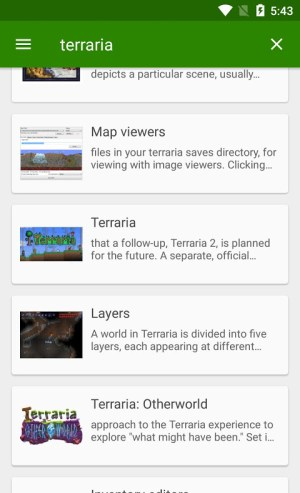 Android Official Terraria Wiki Screen 2