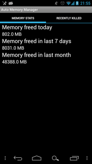 Android Auto Memory Manager Screen 4