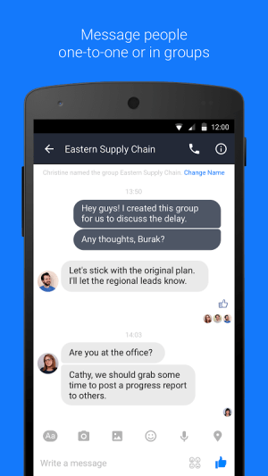 Android Workplace Chat by Facebook Screen 1