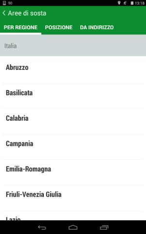 Android Camperlife, camperstops, Screen 2
