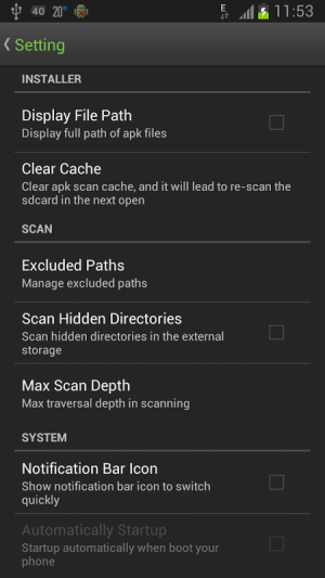 Android Easy Installer - Apps On SD Screen 2