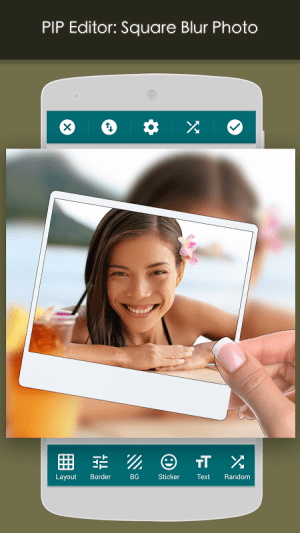 Android PIP Camera: Square Blur Screen 18