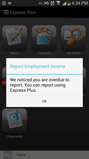 Android Express Plus Job Seekers Screen 3