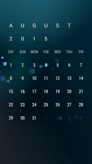Android Calendar Widget: Month Screen 4