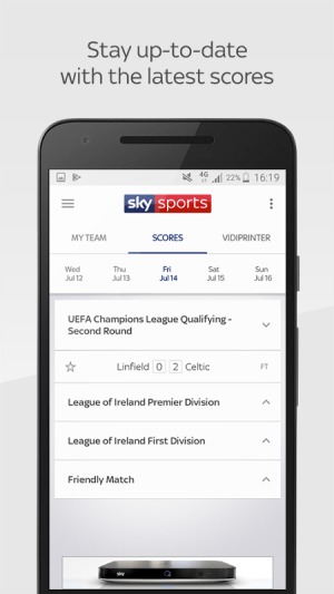Android Sky Sports Live Football SC Screen 1