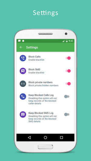 Android Blacklist - Call and SMS blocker Pro Screen 6
