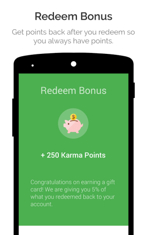 Android appKarma Rewards & Gift Cards Screen 5