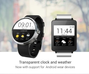 Android Transparent clock weather Pro Screen 22