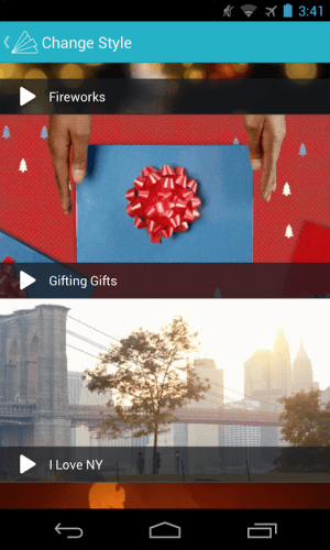Android Animoto Video Maker Screen 1