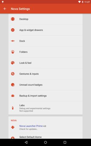 Android Nova Launcher Screen 2