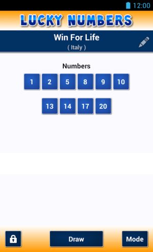 Android Lucky Numbers Screen 5